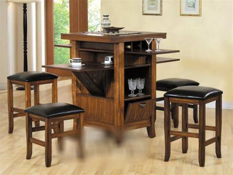 Pub Style Kitchen Table With Storage