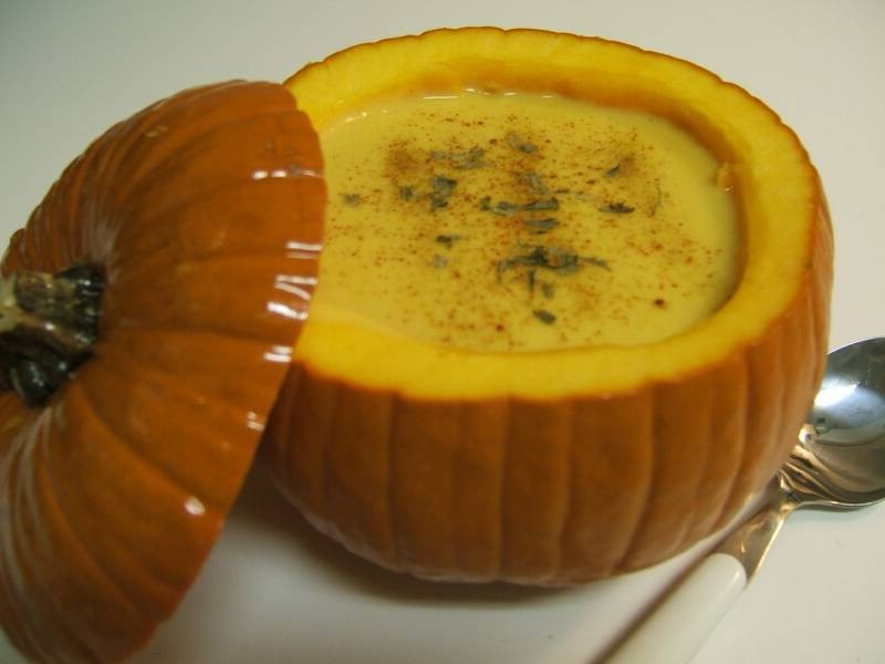 Pumpkin Soup Bowls With Lids
