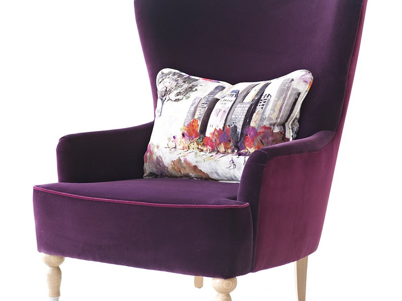 Purple Accent Chair With Arms