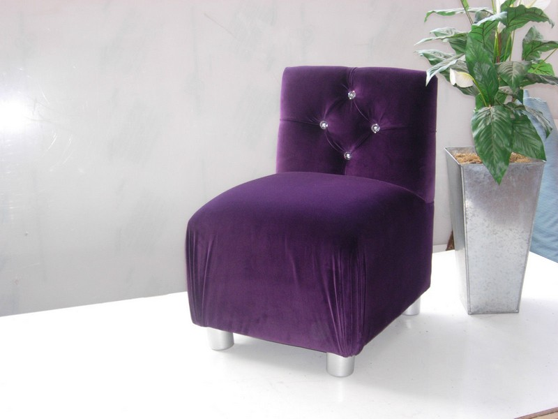 Purple And Black Accent Chair