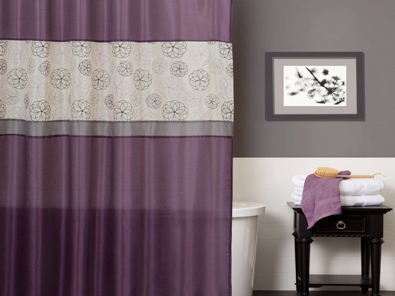 Purple And Gray Bathroom Accessories