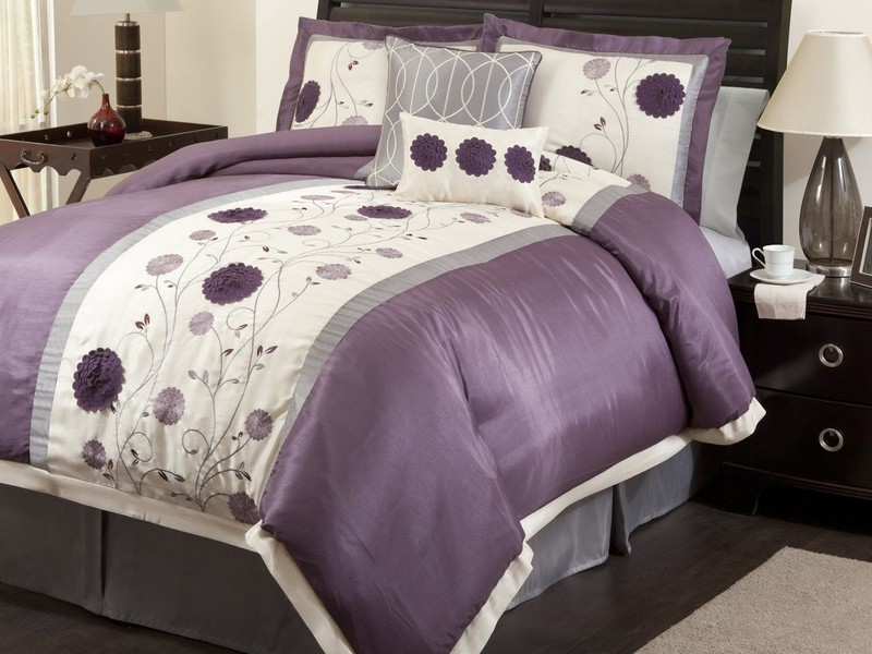 Purple And Grey King Size Bedding