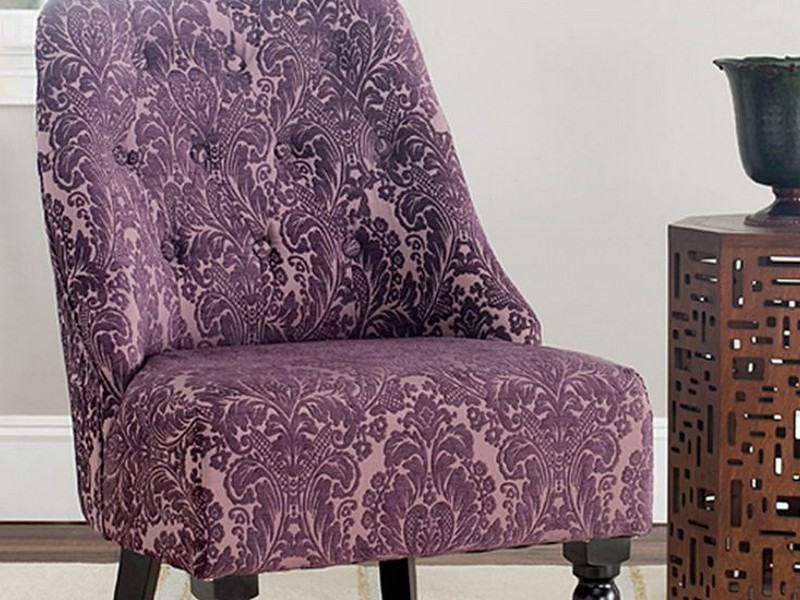 Purple Armless Accent Chair