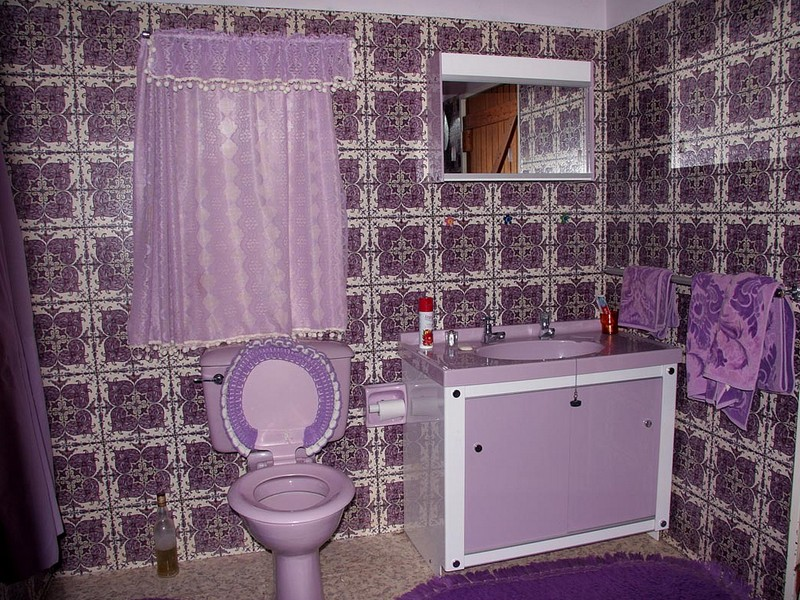 Purple Bathroom Rugs Set
