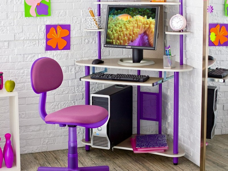 Purple Desk Accessories