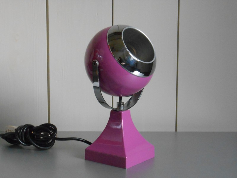 Purple Desk Lamp With Organizer