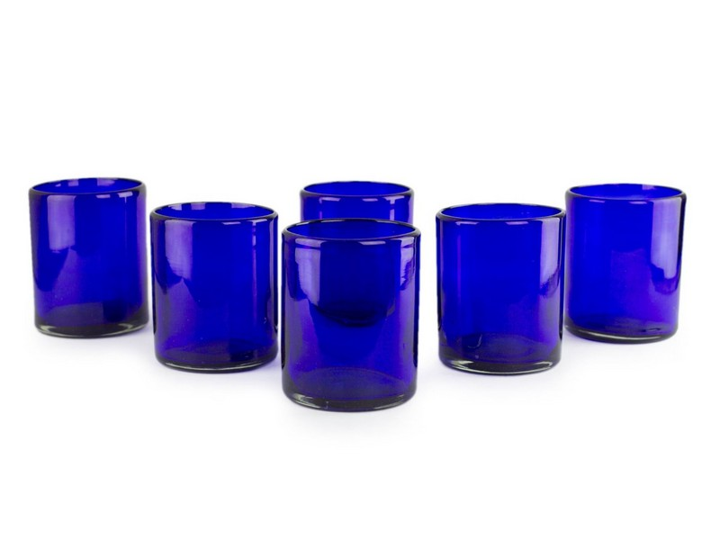 Purple Drinking Glasses Set