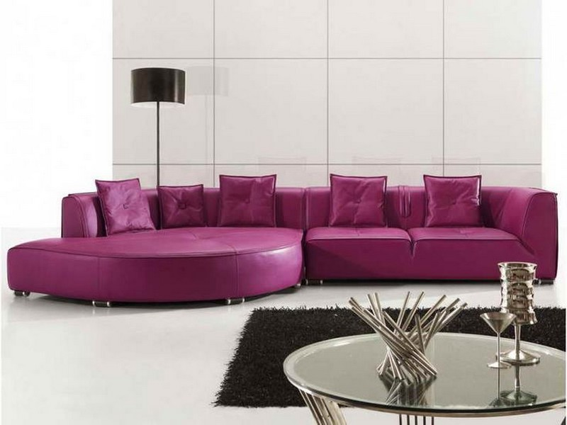 Purple Leather Couch