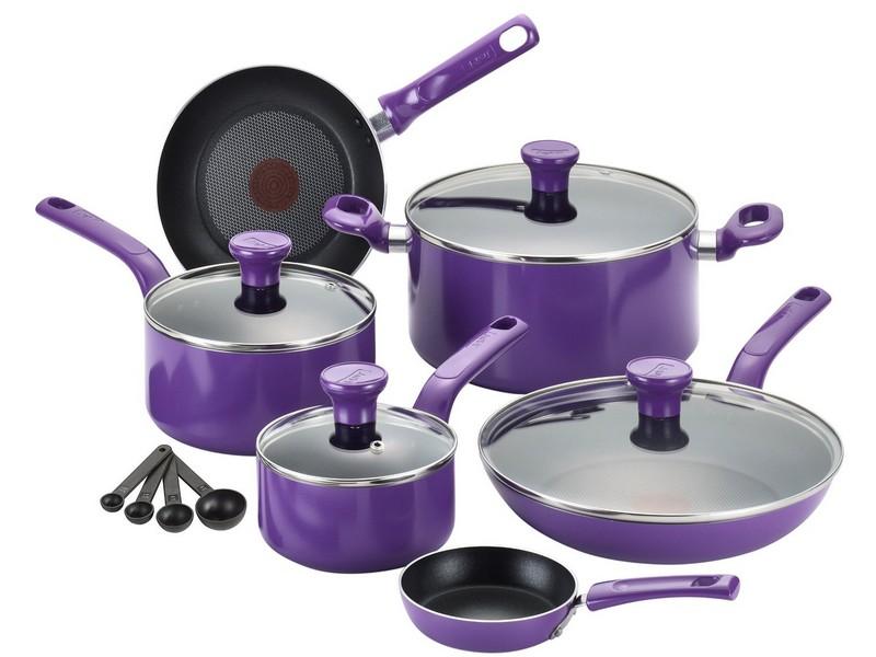 Purple Pots And Pan Sets