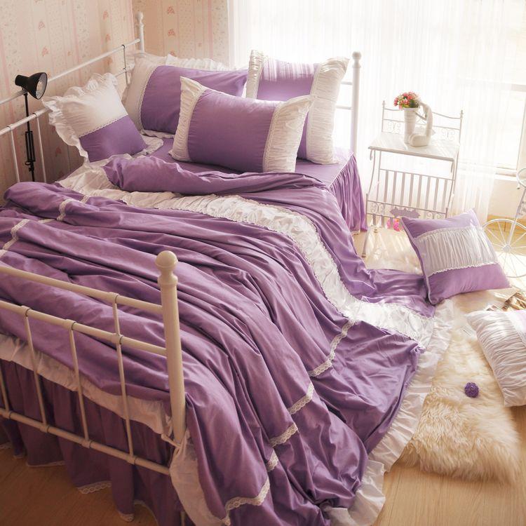 Purple Ruffle Twin Bedding