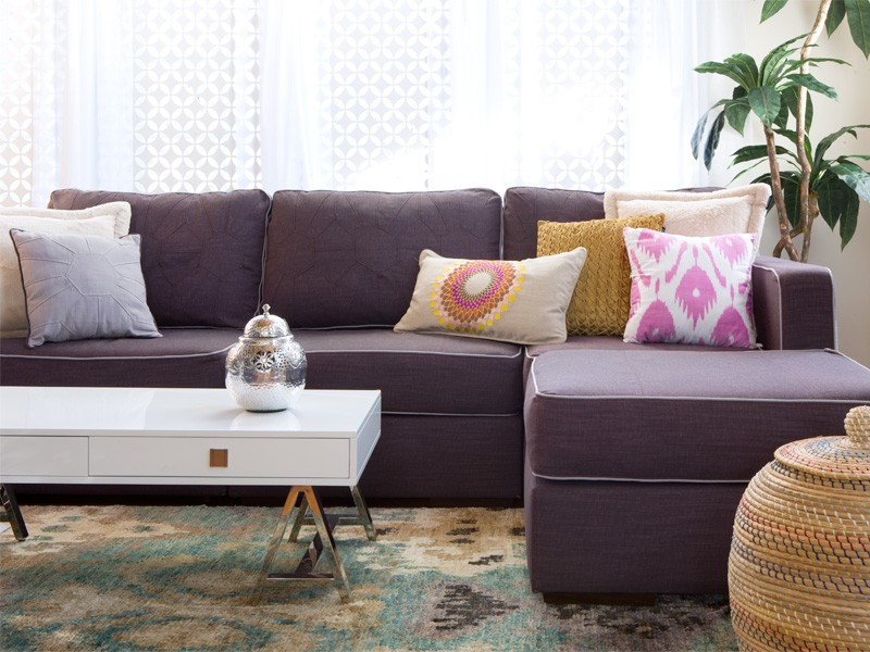 Purple Sectional Sofa Chaise