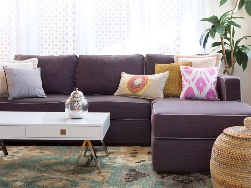 Purple Sectional Sofa Chaise