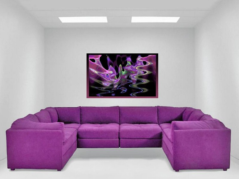 Purple Sectional Sofas