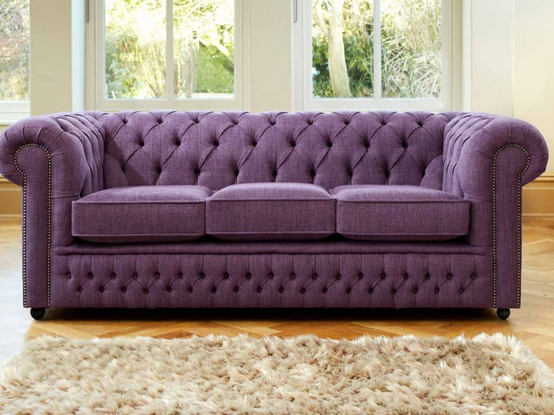 Purple Velvet Couch Vintage