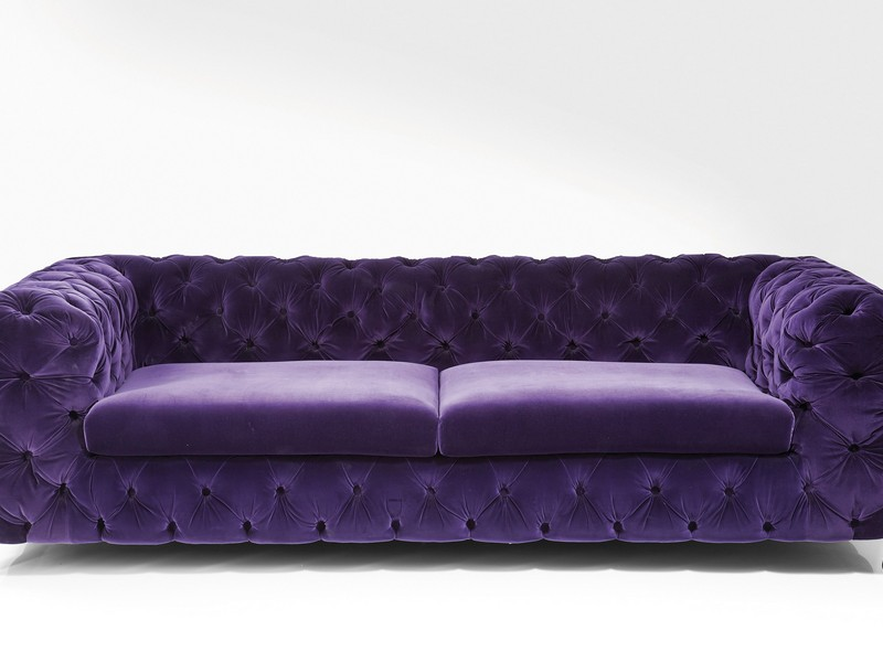 Purple Velvet Couch