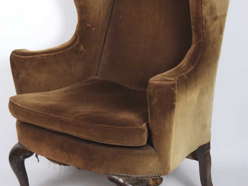 Queen Anne Recliner Wing Chair