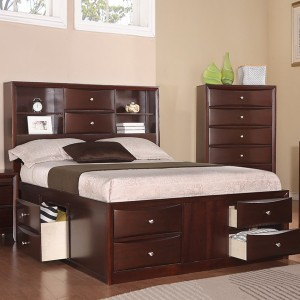 Queen Captains Bed With Drawers