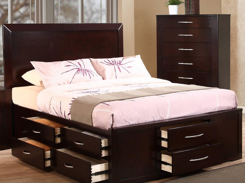 Queen Platform Bed With Storage Drawers