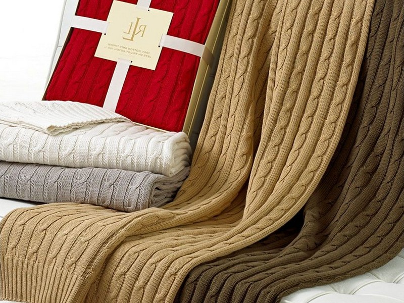 Ralph Lauren Cable Knit Throw Blanket