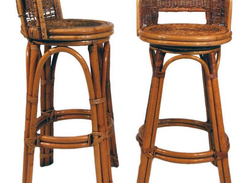 Rattan Bar Stools With Backs