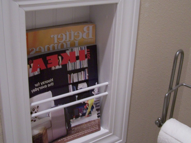 Recessed Magazine Rack Bathroom