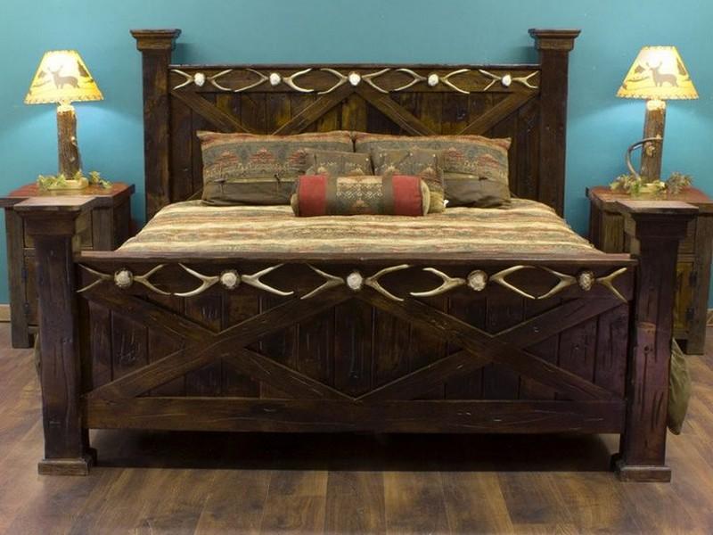 Reclaimed Barn Wood Bed Frame