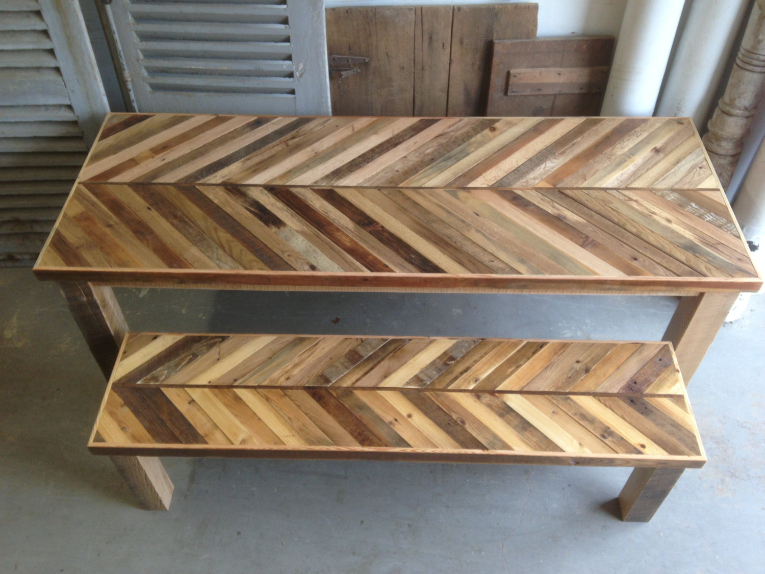 Reclaimed Barn Wood Kitchen Table