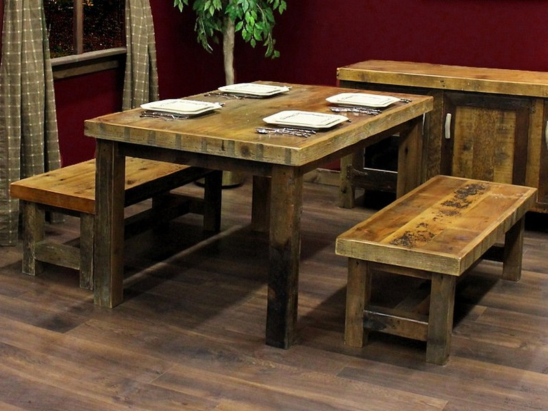 Reclaimed Barnwood Kitchen Table