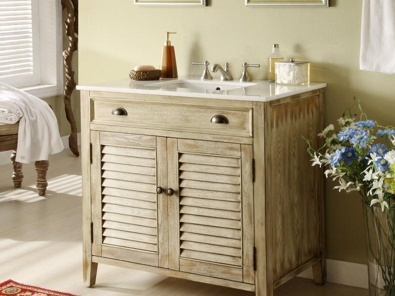 Reclaimed Pine Bathroom Vanity