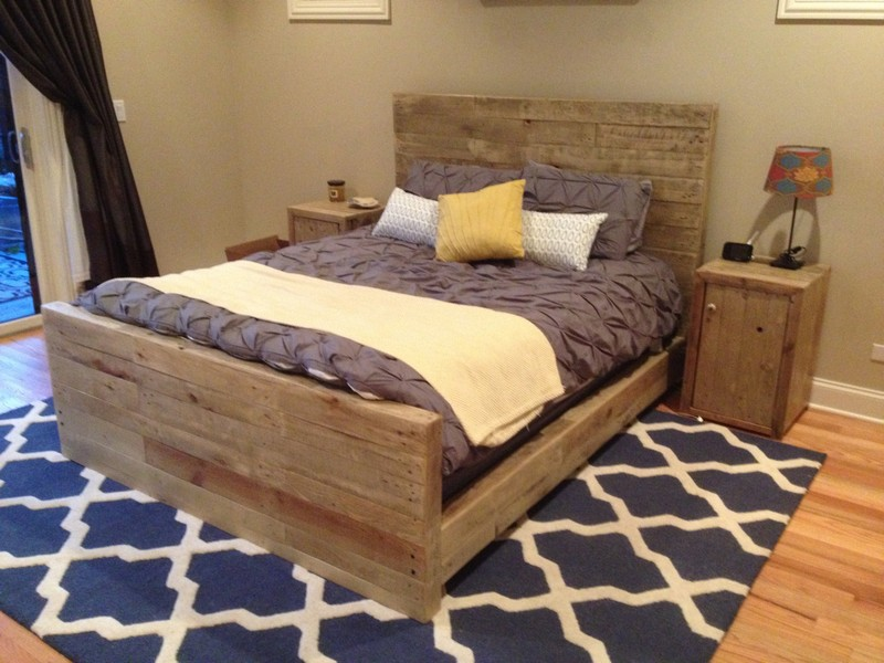 Reclaimed Wood Bed Frame Los Angeles