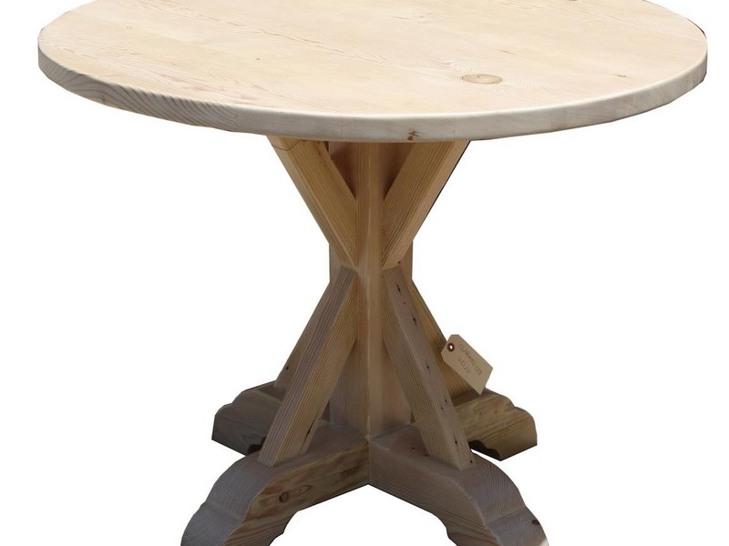 Reclaimed Wood Pedestal Dining Table