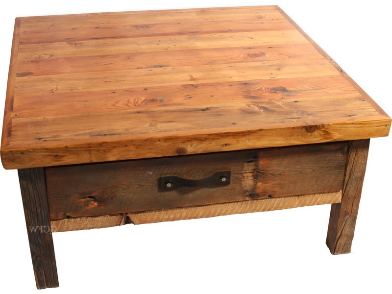 Reclaimed Wood Square Coffee Table
