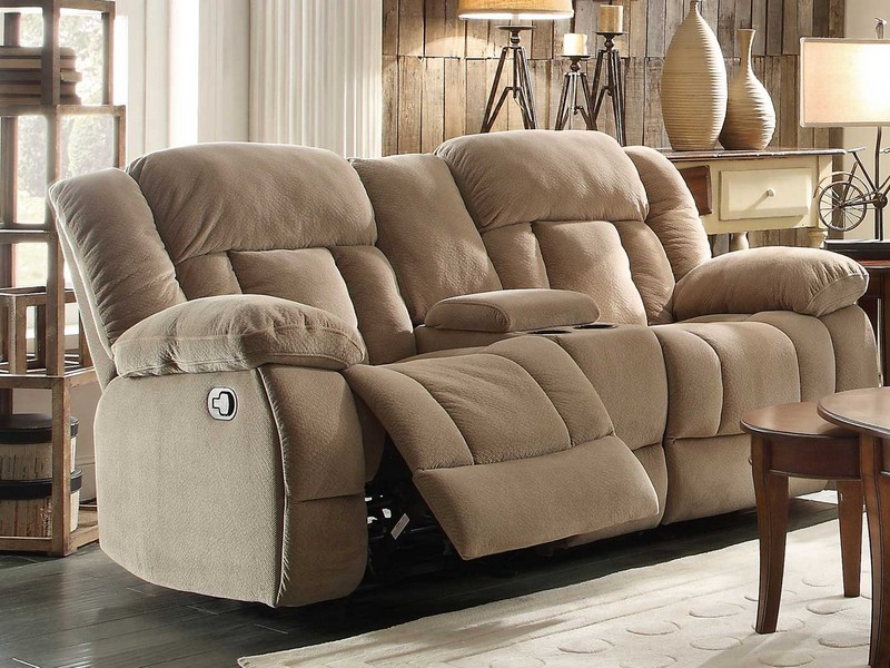 Reclining Loveseat With Console Microfiber
