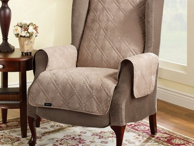 Reclining Wing Chair Cover