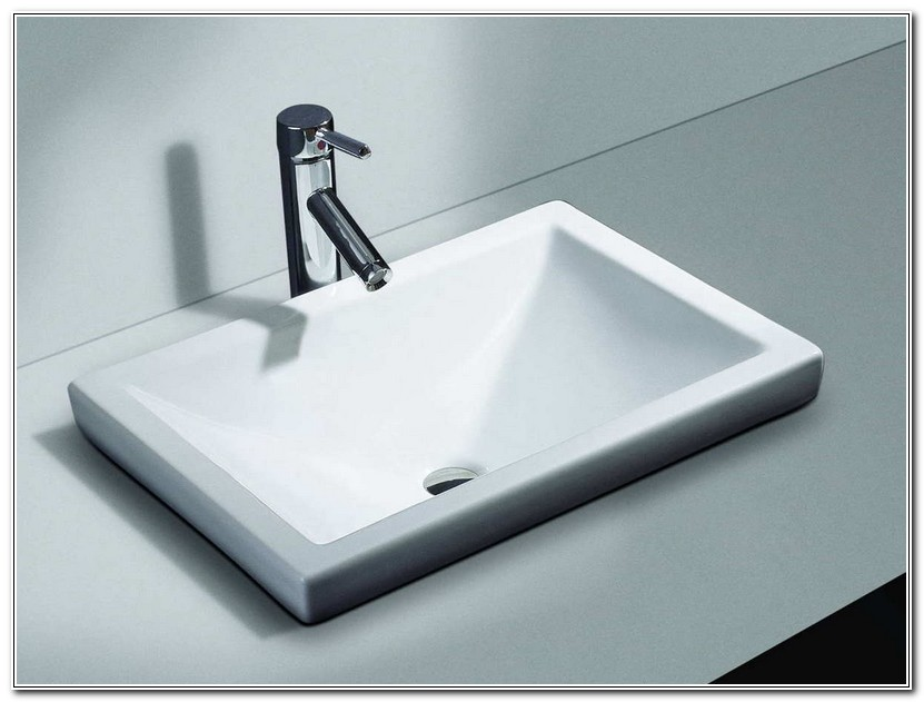 Rectangle Bathroom Sink Drop In