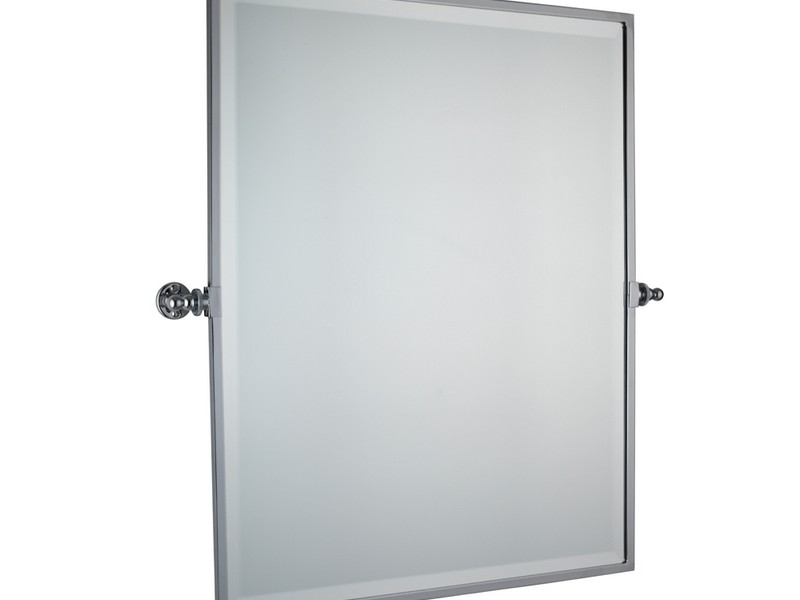 Rectangular Pivot Mirror Chrome