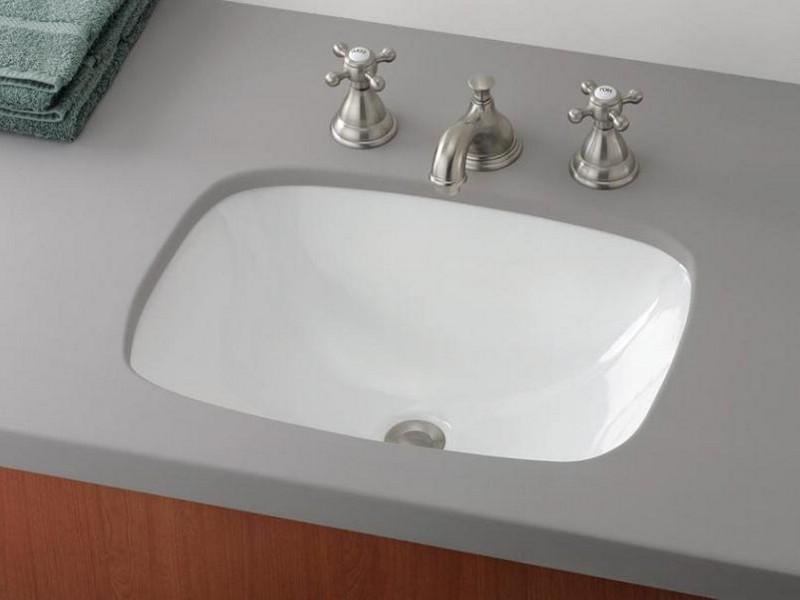 Rectangular Top Mount Bathroom Sinks