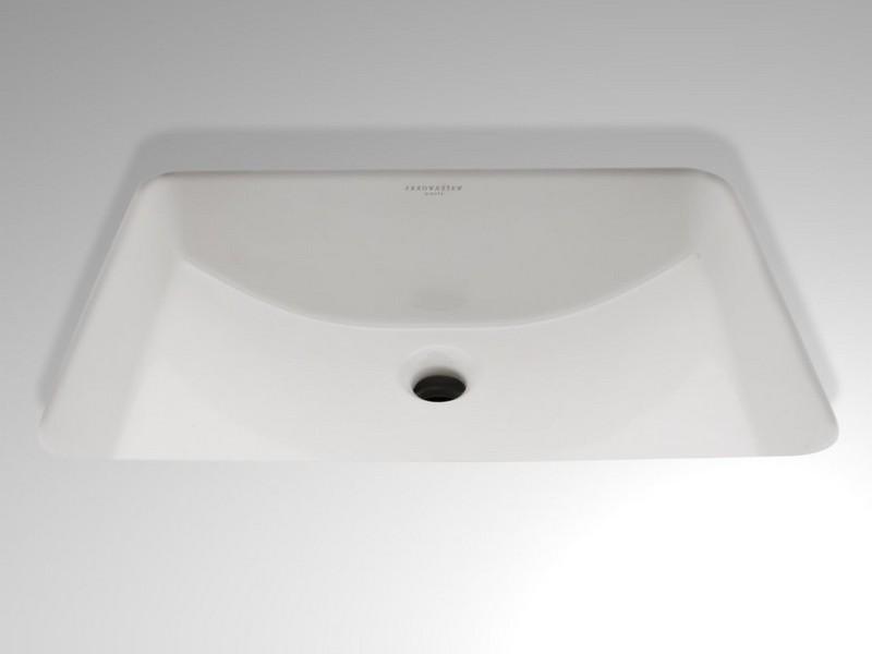 Rectangular Undermount Bathroom Sink White