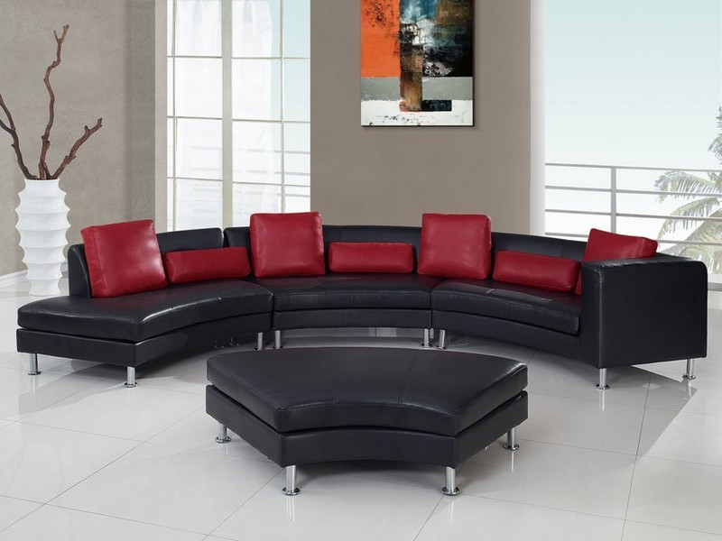 Red And Black Sectional Sofa