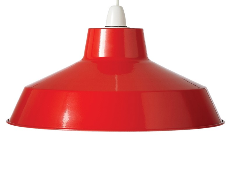 Red And Grey Lamp Shades