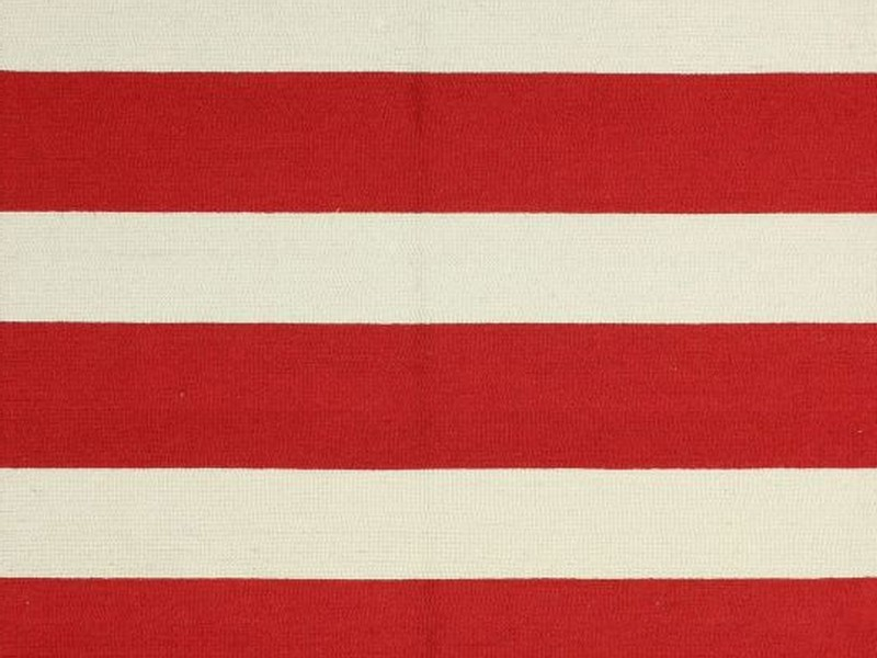 Red And White Striped Rug