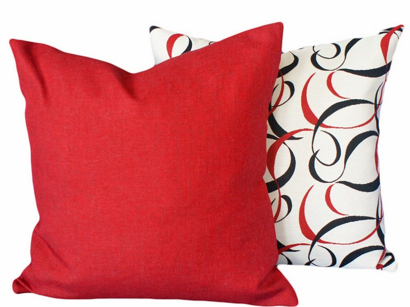 Red Couch Accent Pillows