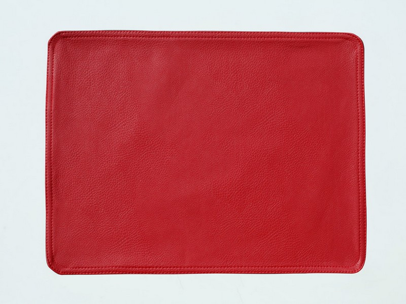 Red Faux Leather Placemats