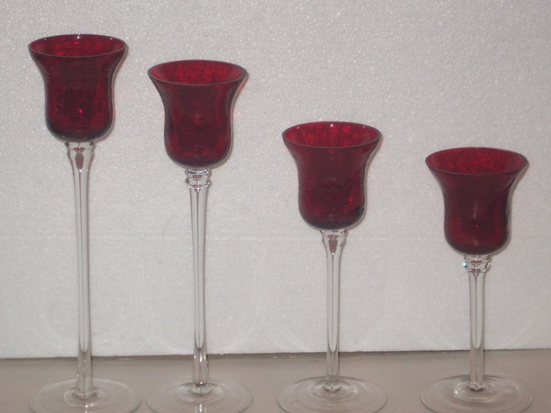 Red Glass Votive Candles