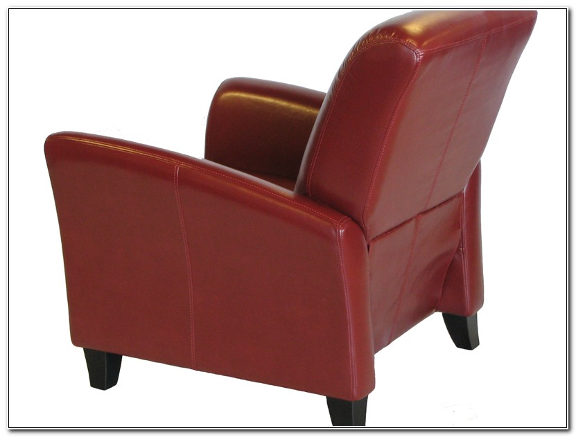 Red Leather Club Chair Recliner