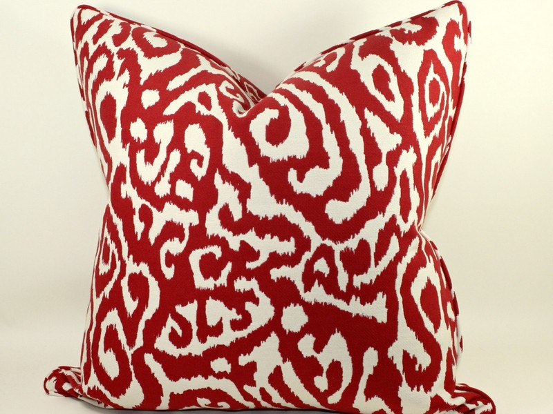 Red Leopard Print Throw Pillows