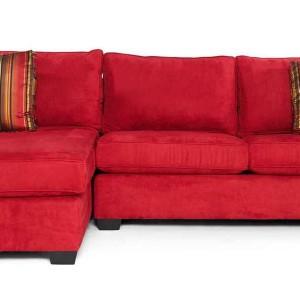 Red Microfiber Sofa Bed