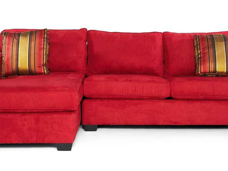 Red Microfiber Sofa Bed