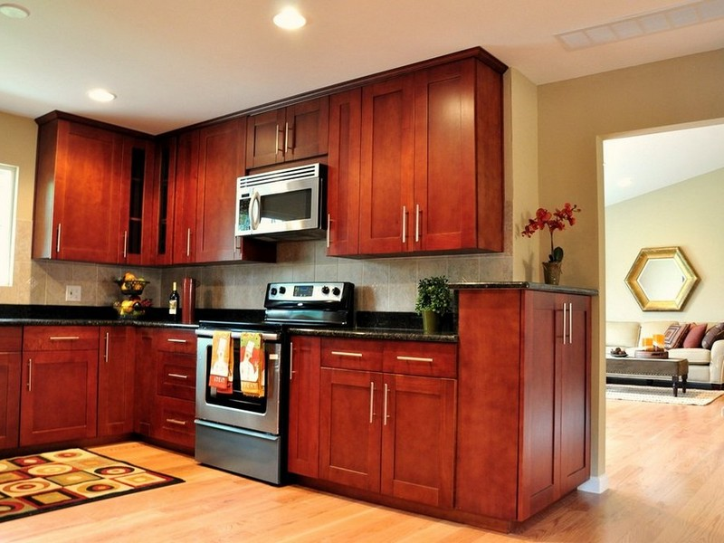 Red Oak Bathroom Cabinets