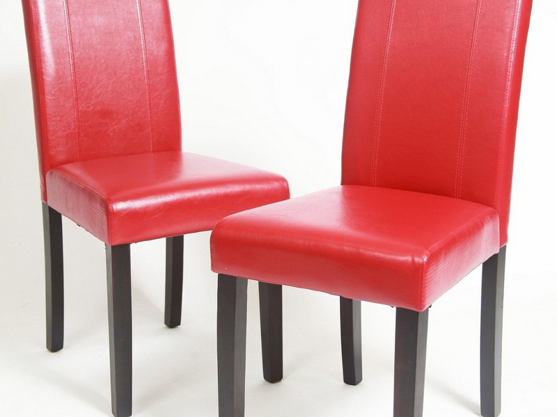 Red Parsons Chairs